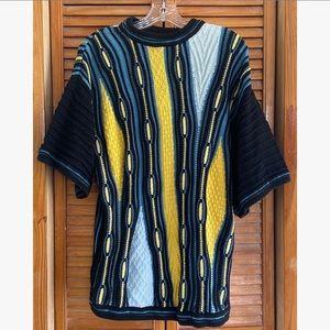 Bergati 90s Crewneck Knit Acrylic Cosby Sweater
